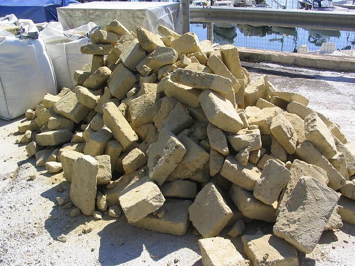 Pozzolana Cement Italy : Building a roman pila romacons s experimenatal